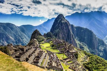A scenic view of Machu Picchu, the lost city of the Inkas